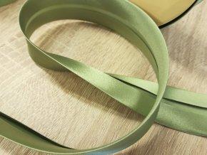 Satenová stuha BIES PERFILADO 87 zelená š. 3 cm
