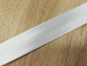 Satenová stuha BIES PERFILADO 02 bílá š. 3 cm