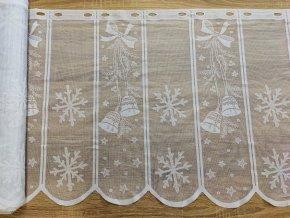 Záclona vitráž Jacquard  47815 v. 60 cm, bílá