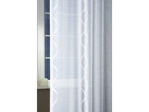 Záclona sable ALLIUM 01 bílé 220 cm + olůvko