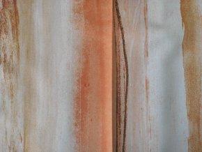 Stínící DIM OUT POLLING 208 oranžová š. 140 cm