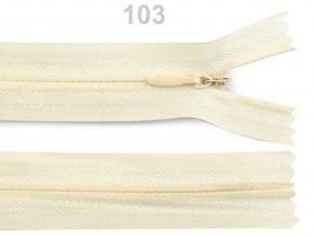 Spirálový zip skrytý délka 40 cm b. 103 afterglow