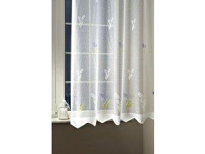 Záclona žakárová 47527 v. 160 cm bílá levandule