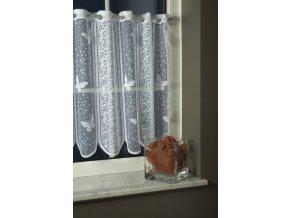 vitrážka 3405 v. 30 cm bílá