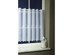Záclona vyšívaný voile PILLE 01 motýlek bílá 60 cm
