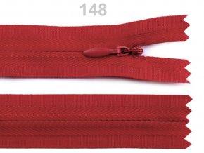 Spirálový zip skrytý délka 40 cm b.148 High Risk Red