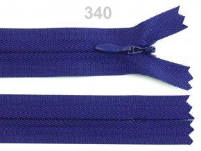 Spirálový zip skrytý šíře 3mm délka 50 cm b. 340  Aquazon