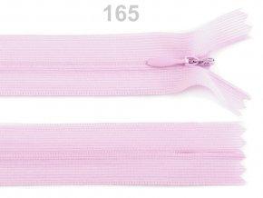 Spirálový zip skrytý délka 35 cm b.165 Lavender Fog , podklad dederon