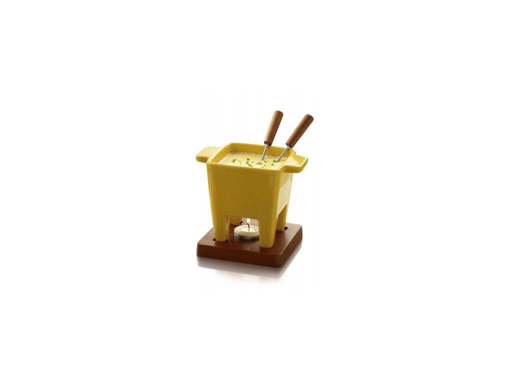 Souprava na fondue žlutá Boska