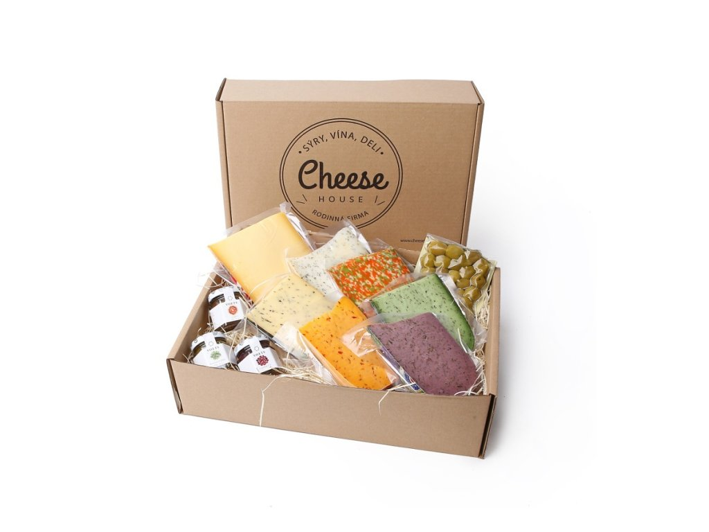 Sýrový box triple dips s olivami