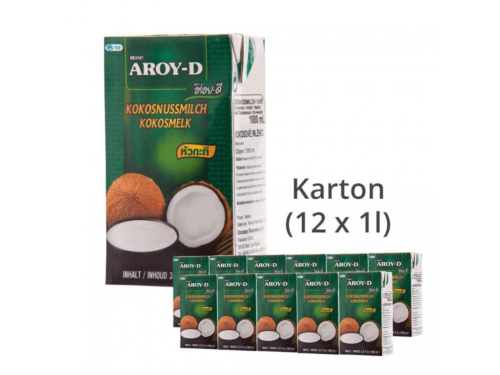 Kokosové mléko Aroy-D 1 karton (12 x 1l)