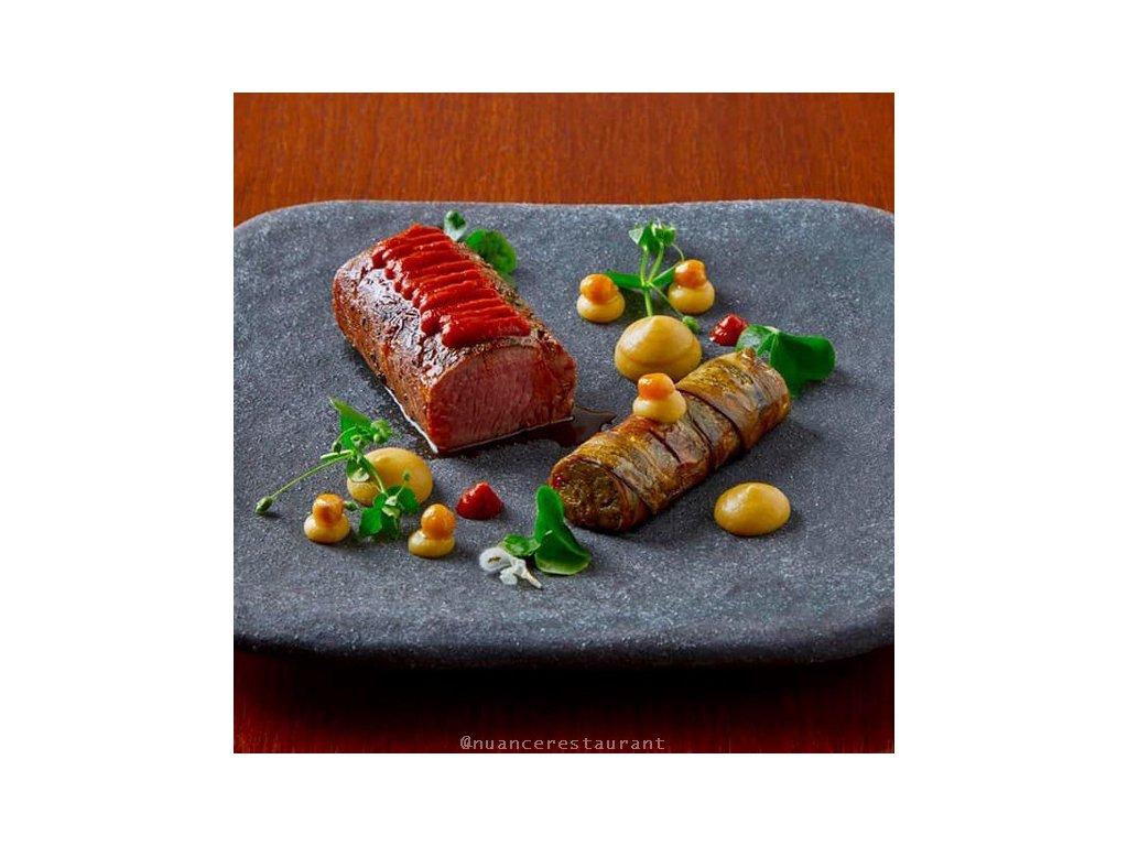 Čtvercová kamenná deska STONE SLAB 25 x 2 cm