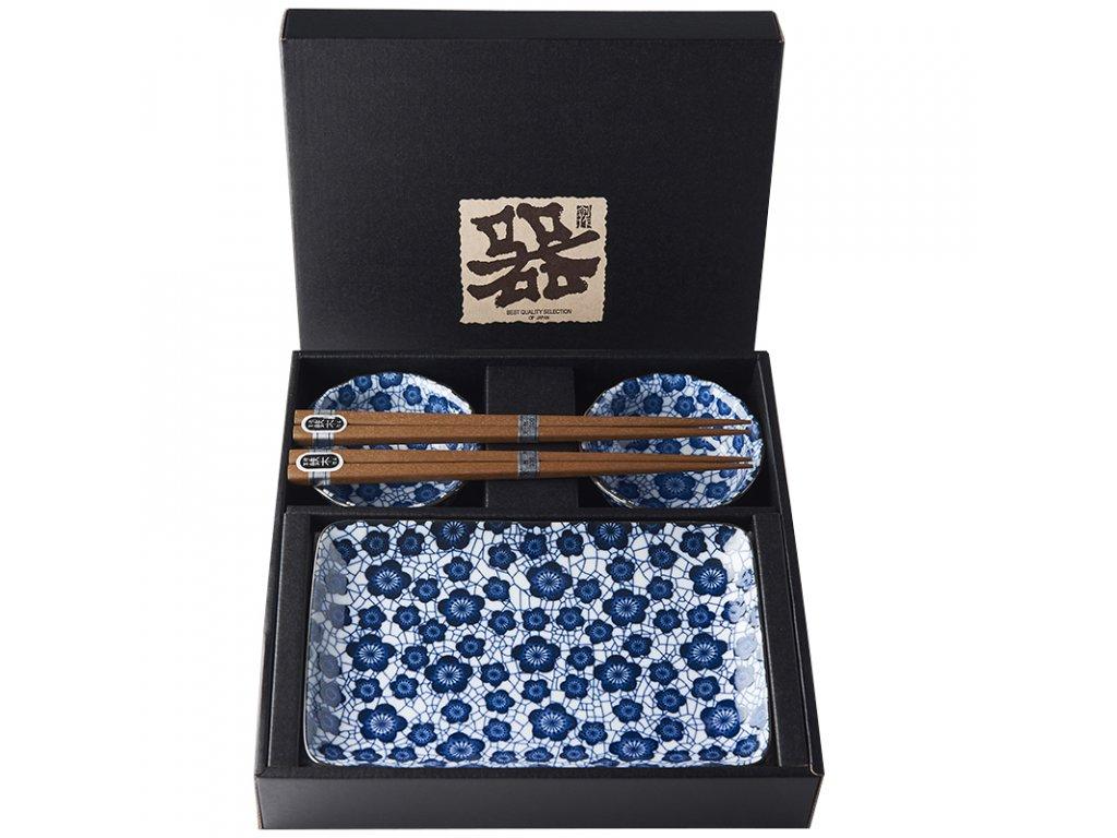 Sushi set Blue Plum Design 6 ks MIJ