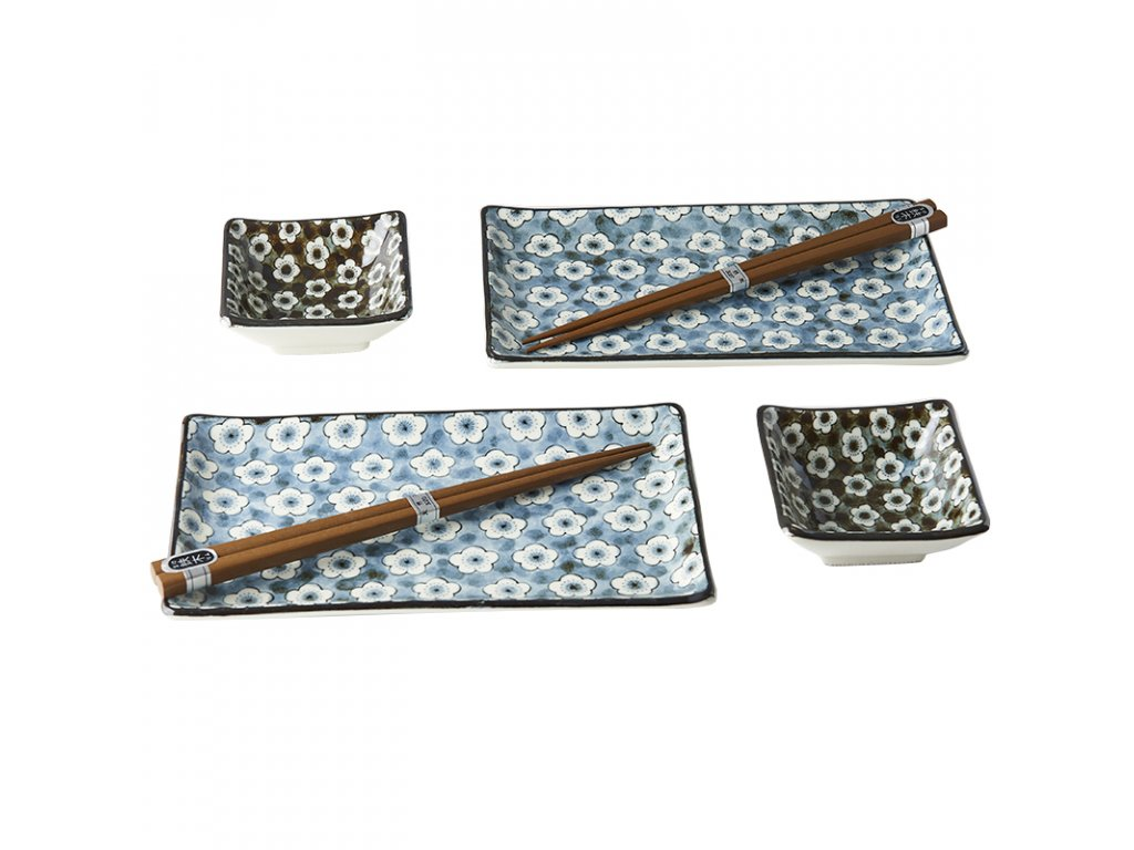 Sushi set Navy & White UME Design 6 ks