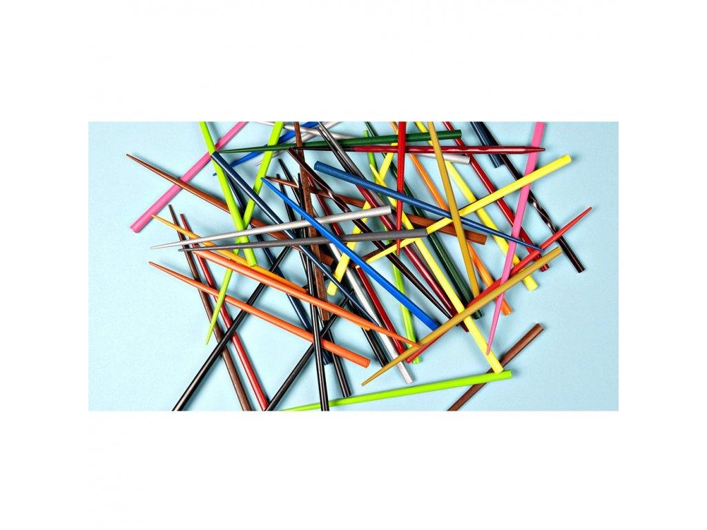 Lakované jídelní hůlky Chopsticks zelené