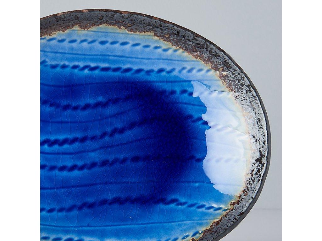 Mělký oválný talíř Cobalt Blue 24 x 20 cm