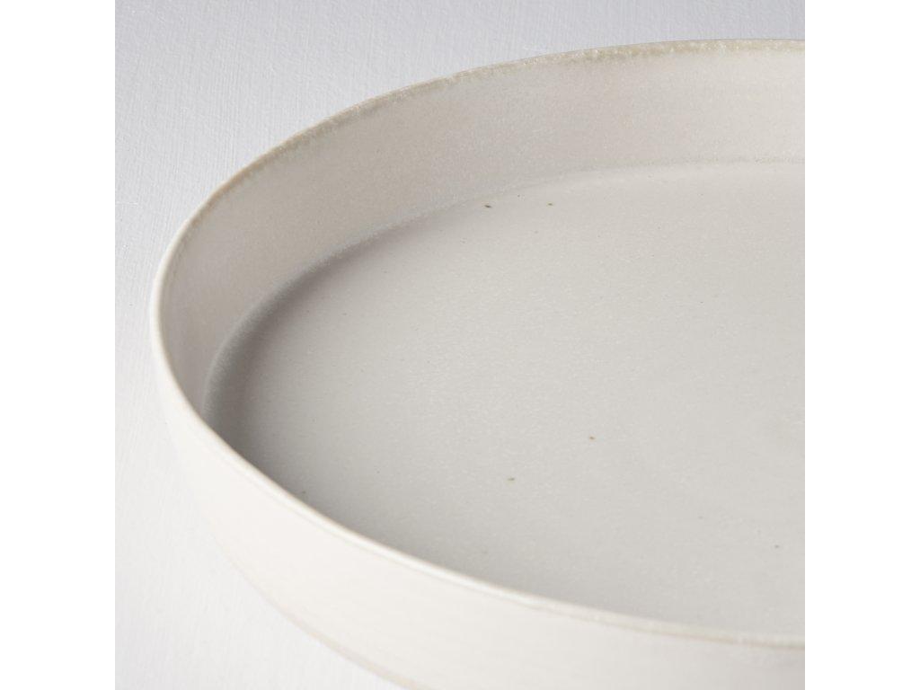 Velký mělký talíř s vysokým okrajem Craft White 25 cm