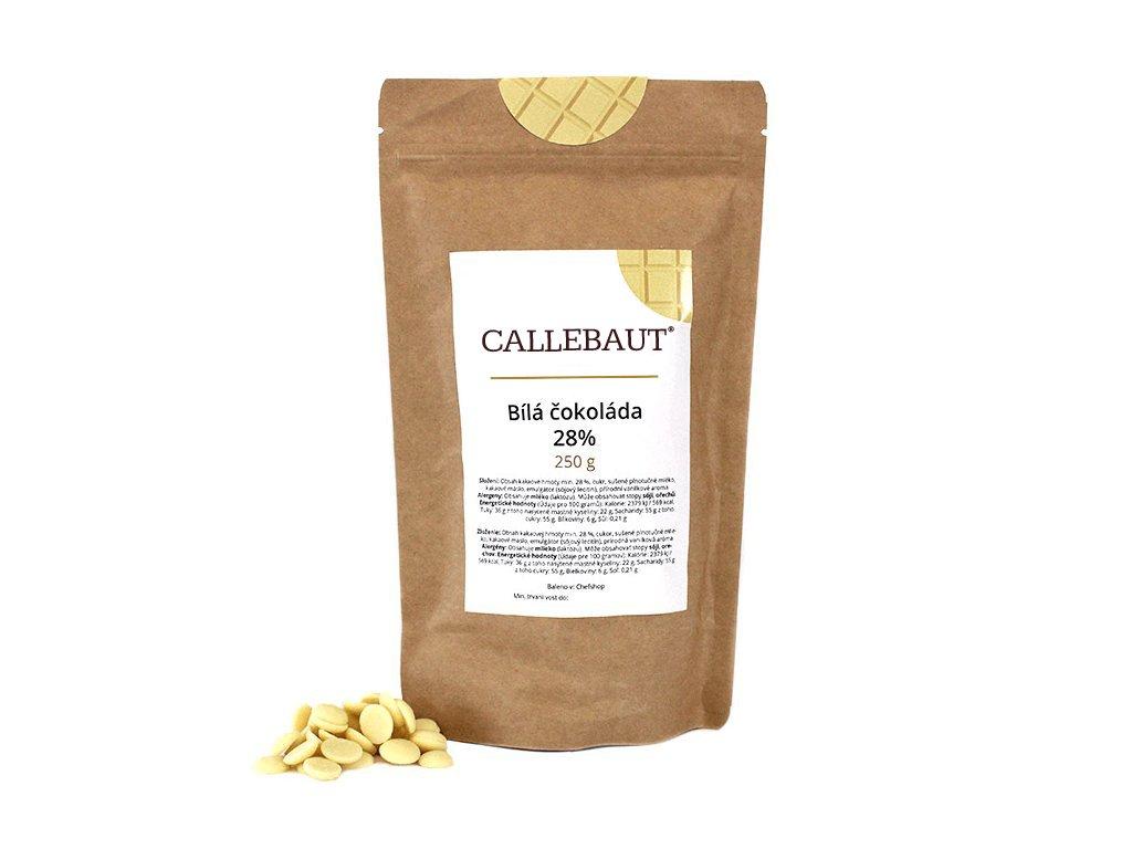 Bílá čokoláda Callebaut 28% 250 g