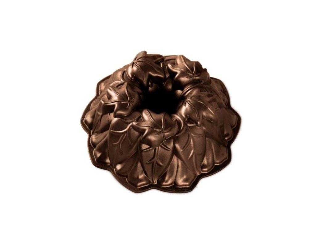 Forma na bábovku Listy vinné révy bronzová Nordic Ware