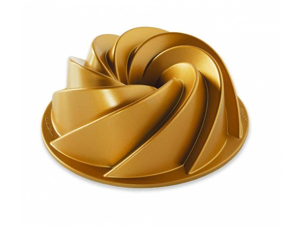 Nordic Ware Forma na bábovku Heritage, zlatá, 1,4 l 1