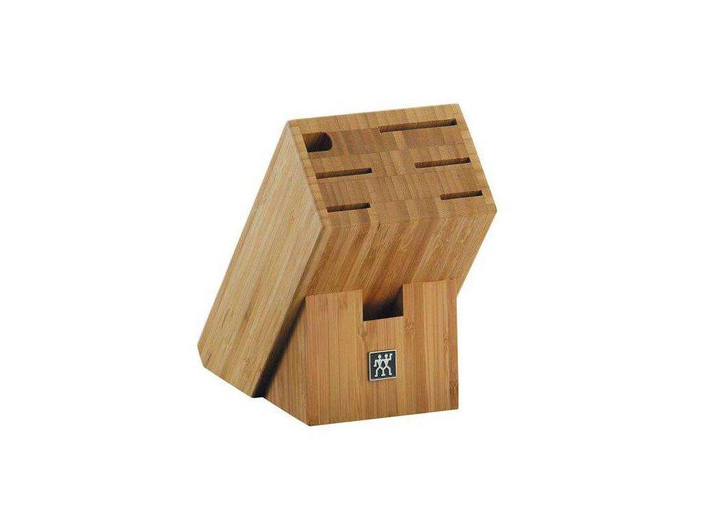 Blok na nože zkosený bambusový na 7 kusů
