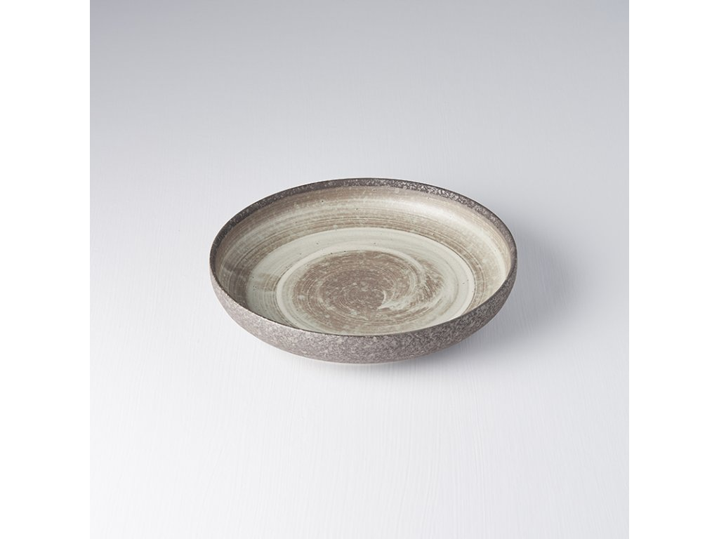 Mělký talíř s vysokým okrajem Nin-Rin 22 cm MIJ