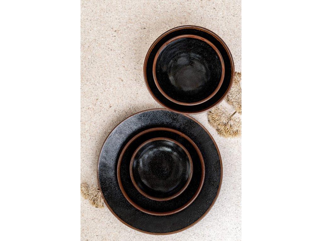 Předkrmový mělký talíř Tenmokku 17 cm