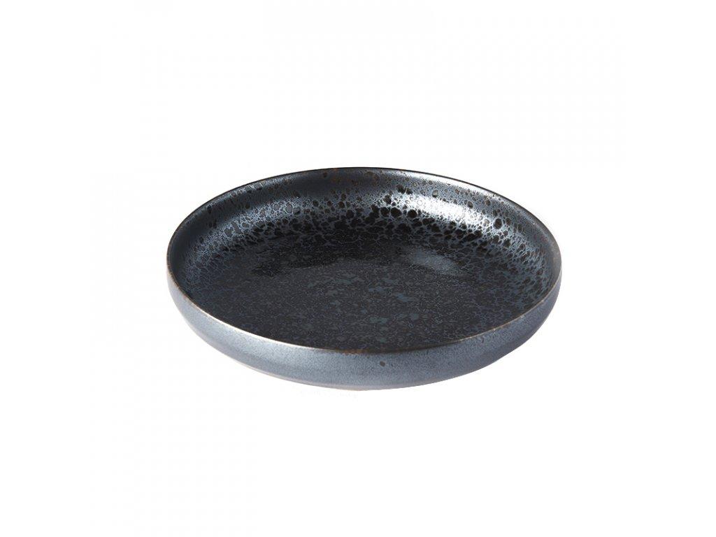 Mělký talíř s vysokým okrajem Black Pearl 22 cm