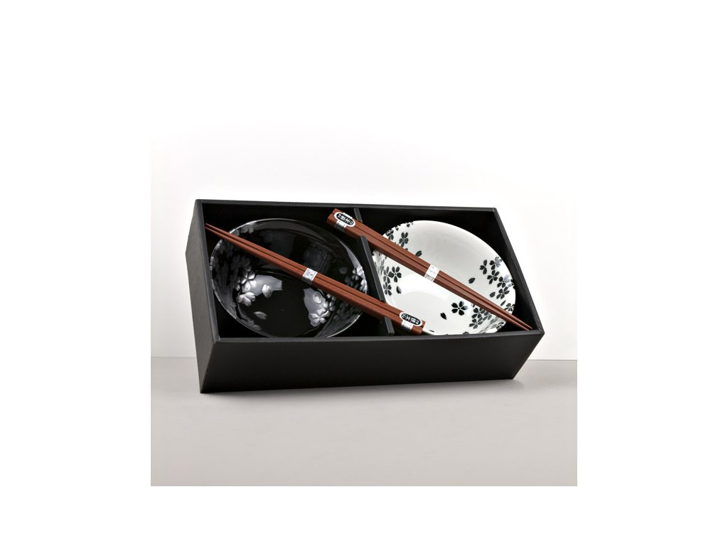 Set misek Silver Sakura s hůlkami 500 ml 2 ks