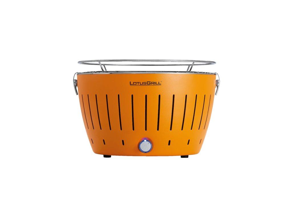 Bezkouřový gril LotusGrill oranžový  + gelový podpalovač + taška + sada baterií
