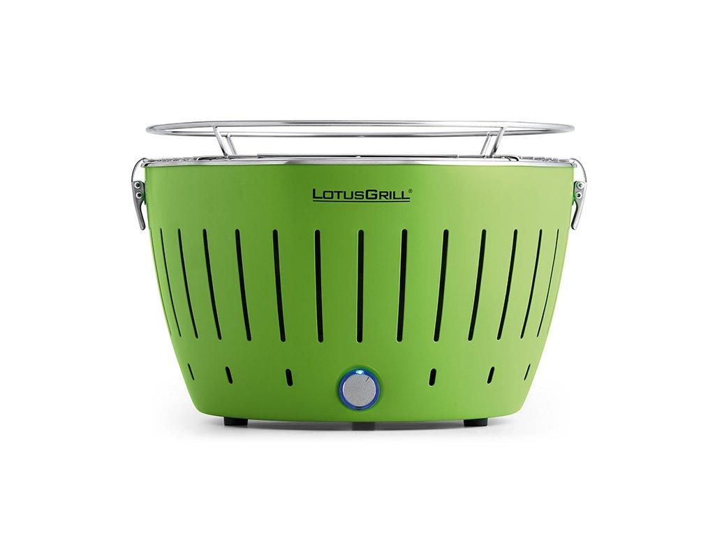 Bezkouřový gril LotusGrill zelený  + gelový podpalovač + taška + sada baterií
