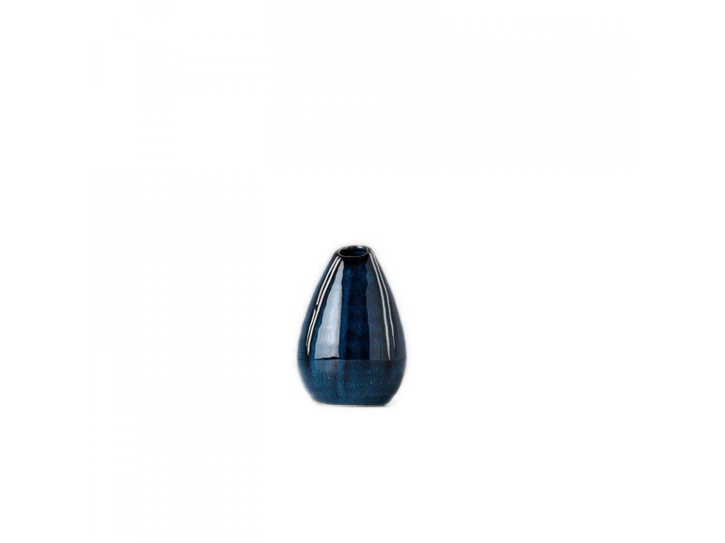 Váza ve tvaru kapky modrá 10 cm MIJ