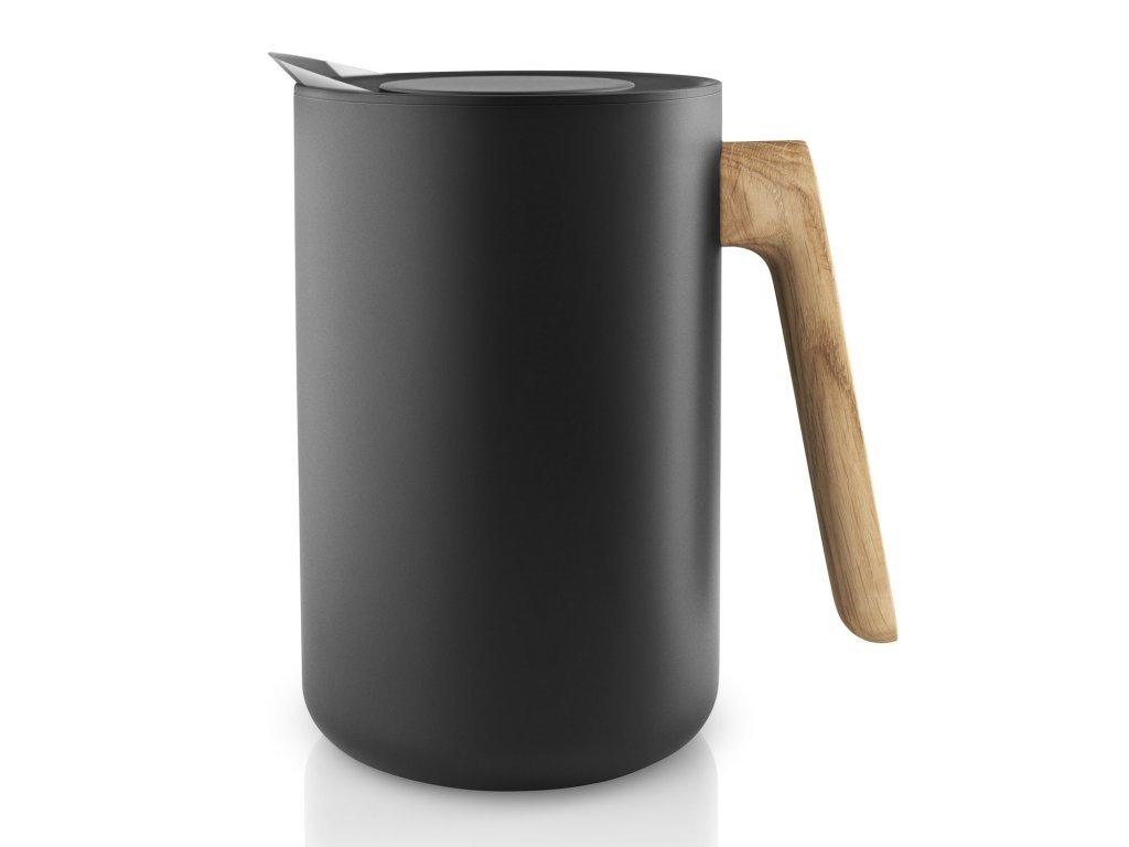 Vakuová termoska s dřevěnou rukojetí Nordic kitchen černá 1,0 l