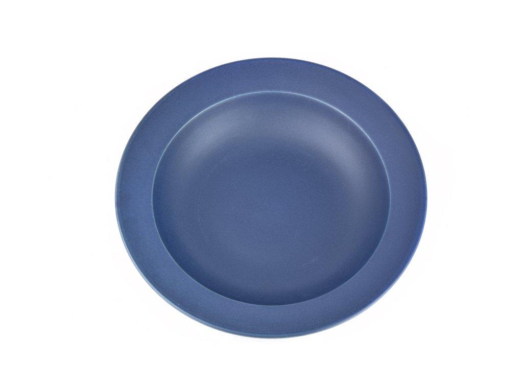 Hluboký talíř s širokým okrajem 21,5 cm tmavě modrý MIJ
