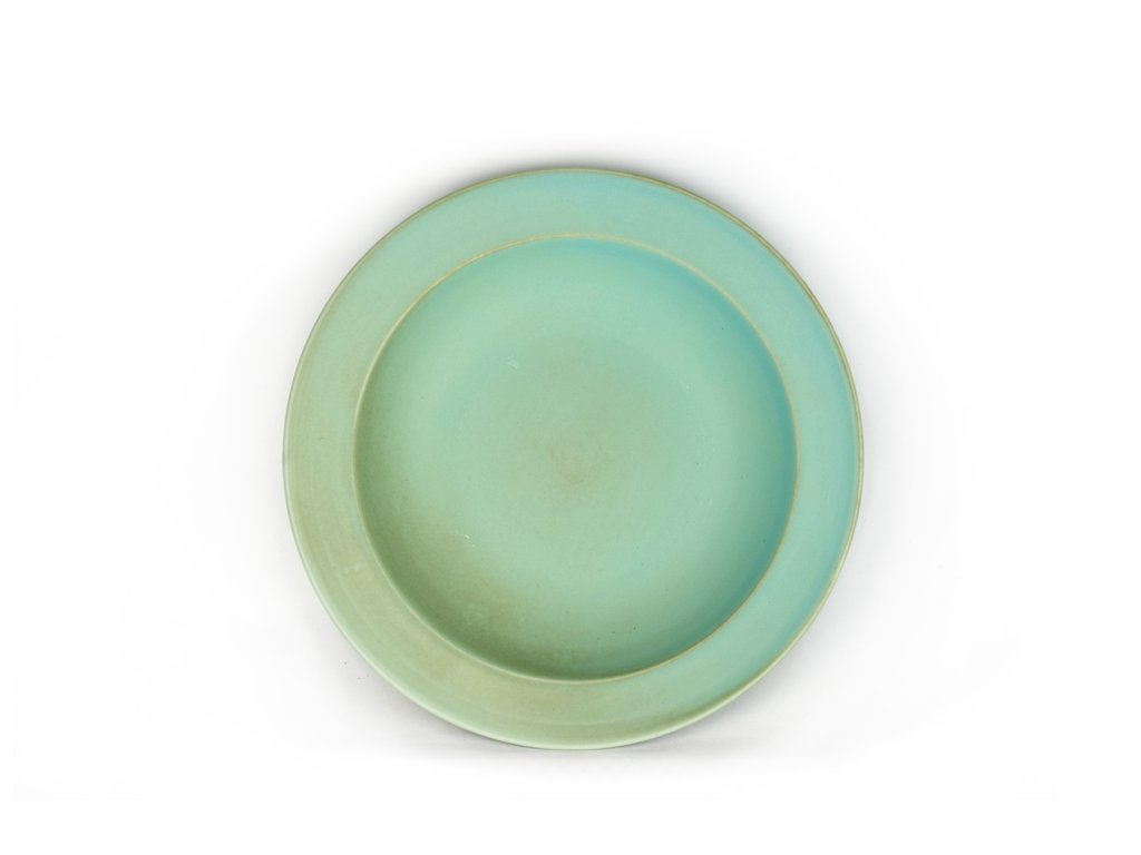 Hluboký talíř s širokým okrajem 21,5 cm modrozelený