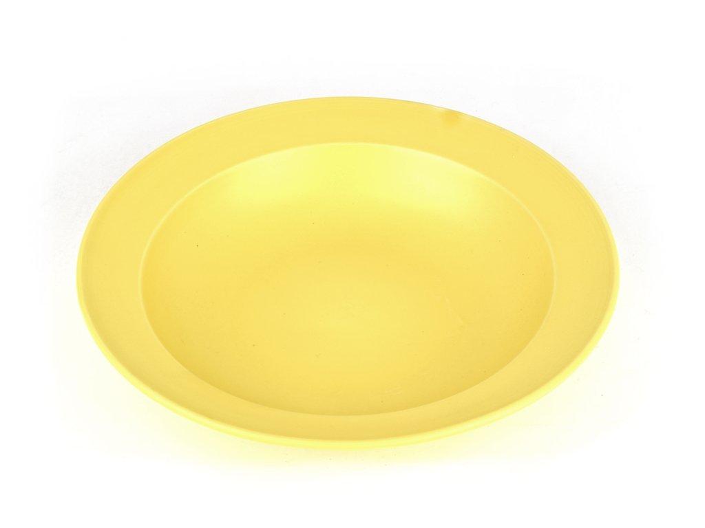Hluboký talíř s širokým okrajem 21,5 cm žlutý