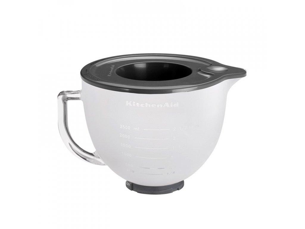 Skleněná mísa KitchenAid 5K5GBF matná 4,83 l