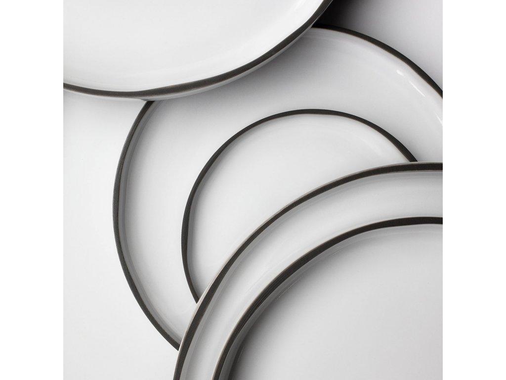 Dezertní talíř bílý White Cumulus CARACTERE REVOL