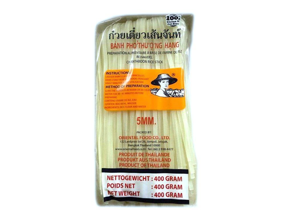 """Rýžové nudle široké """"Pho"""" 5mm 375 g"""