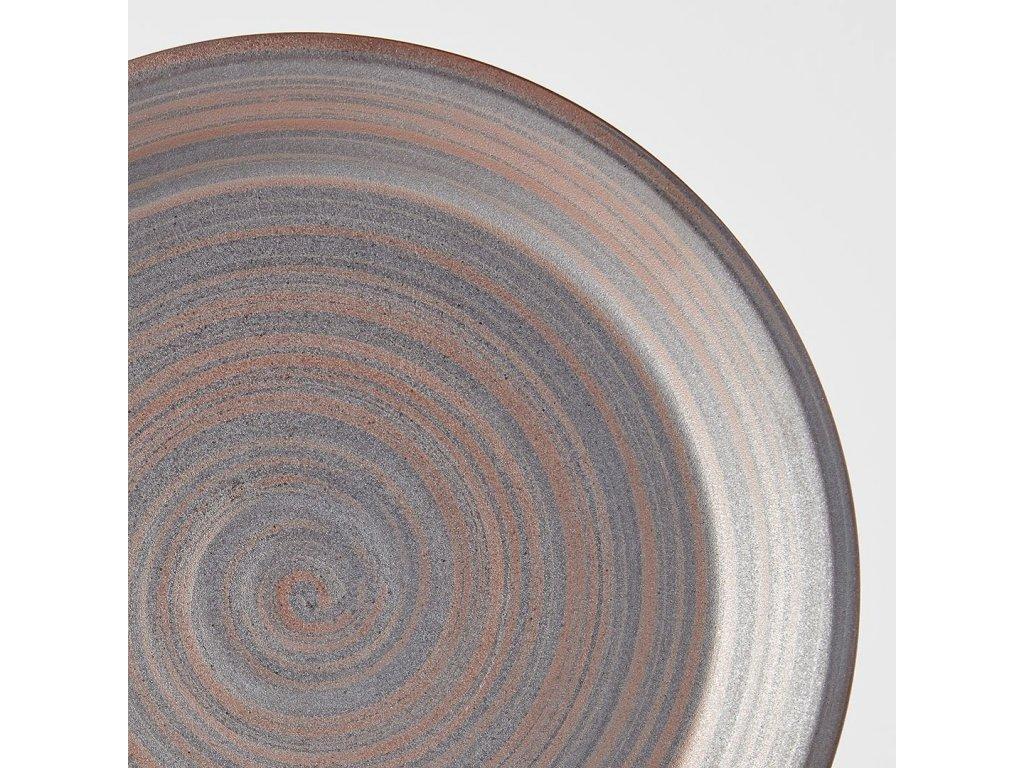 Mělký talíř s vysokým okrajem Recycled Smoke Glate 27,5 cm