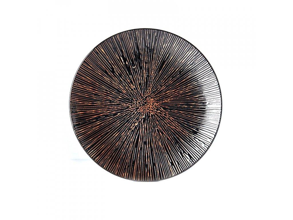 Mělký talíř Bronze Converging 29 cm