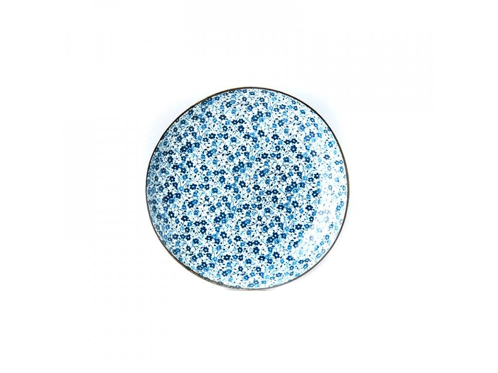 Mělký talíř Blue Daisy 23 cm