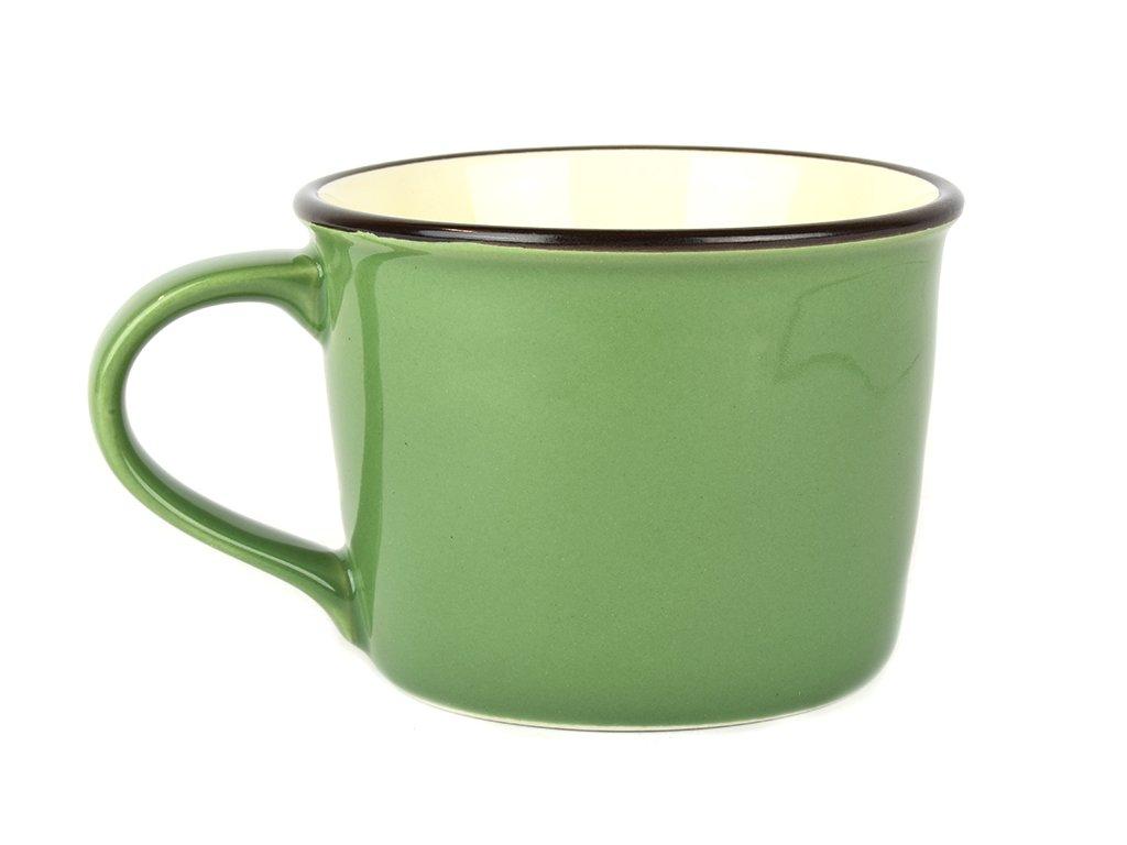 Široký hrnek COLOURBLOCK 200 ml zelený