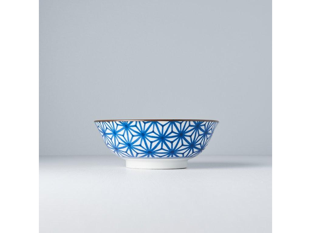 Velká mísa Starburst Indigo Ikat 19,5 cm 400 ml