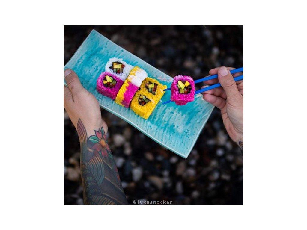 Talíř na sushi a sashimi Turquoise 29 x 13 cm MIJ
