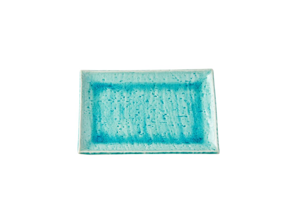 Talíř na sushi a sashimi Turquoise 20,5 x 13,5 cm