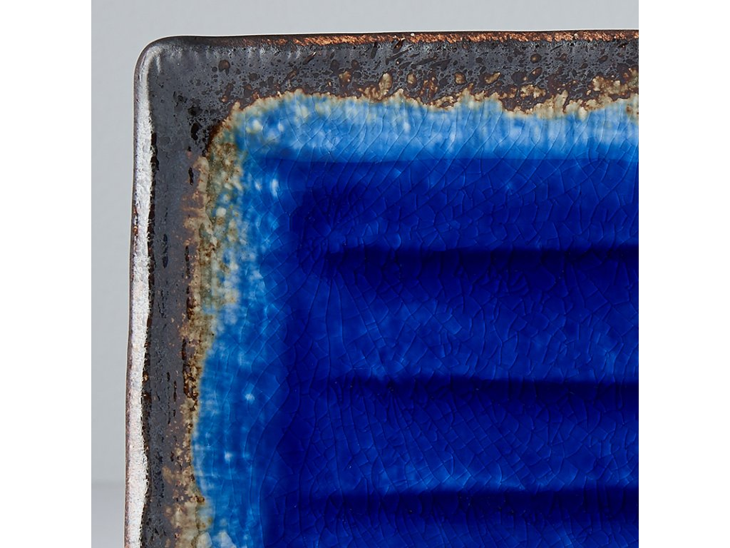 Talíř na sushi Cobalt Blue 21 x 13 cm MIJ