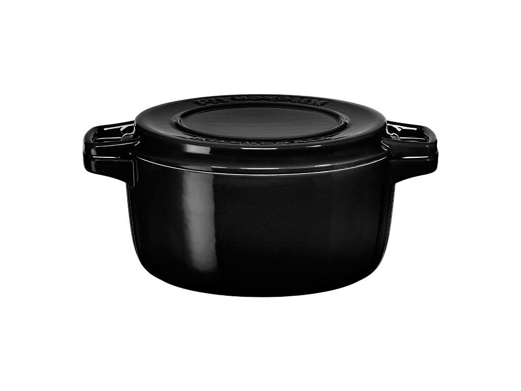 Litinový hrnec s poklicí KitchenAid černá 24 cm 3,8 l