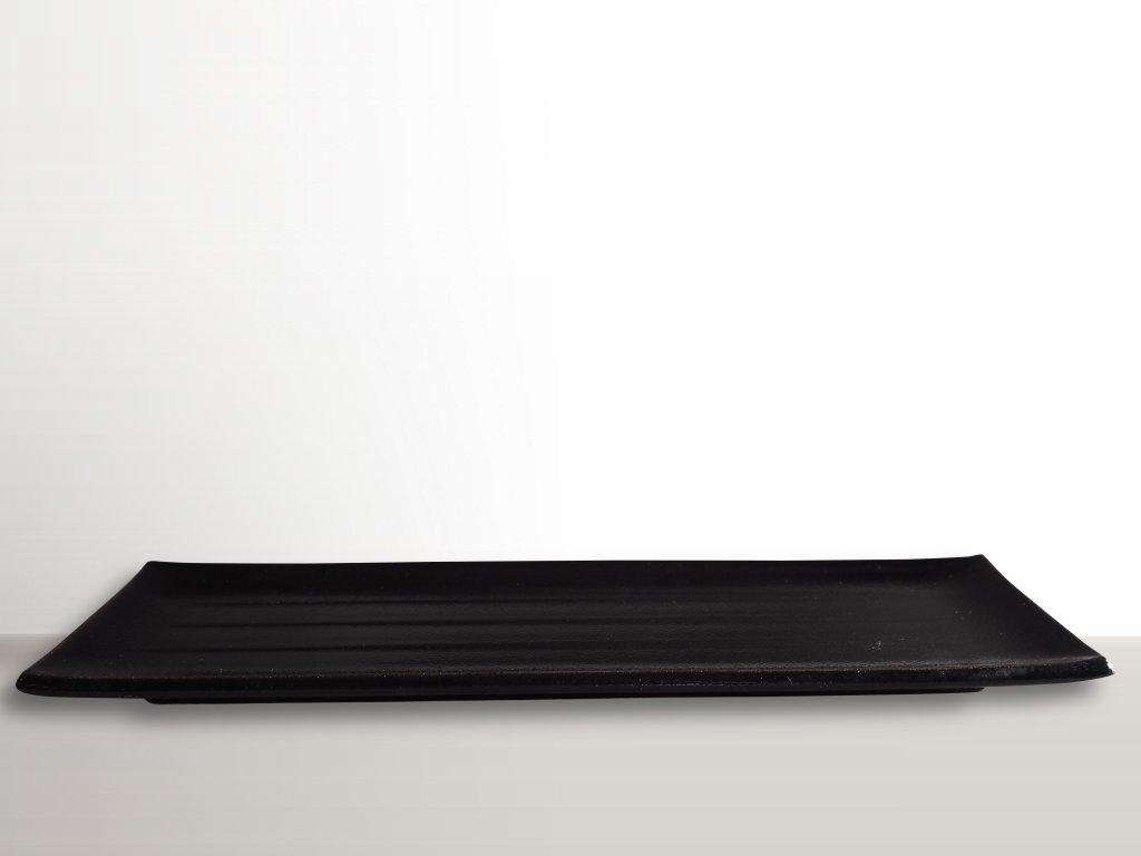 Talíř na sushi a sashimi 38 x 12 cm černý