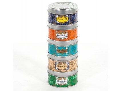 Dárkové balení sypaných čajů Brunch Teas Selection Kusmi Tea 5 x 25 g
